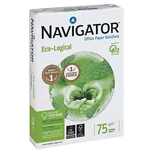 Papier pour photocopieur Navigator Eco-logical A3, 75 g/m2, blanc, 500feuilles