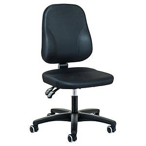 Prosedia Baseline 0101 bureaustoel met middelhoge rugleuning, stof, zwart