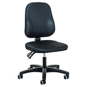 Chaise de bureau Prosedia Younico 0101, Baseline, dossier bas, noir
