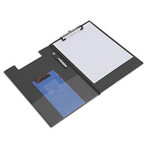 Polypropylene Foldover Clipboard Black A4