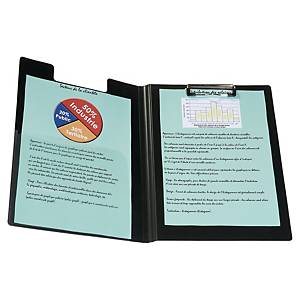 Clipboard PP 23x33 cm black with flap