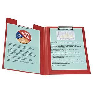 Blokholder, A4, H-clip, pp-plast, rød
