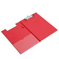 Polypropylene Foldover Clipboard Red