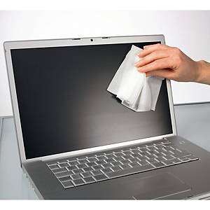 Lingettes humides Lyreco pour le nettoyage d écrans LCD/LED/plasma, 5 lingettes