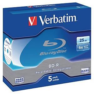 Blu-ray Disk Verbatim, 25 GB, balení 5 kusů