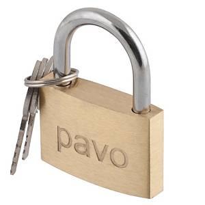 Cadeado Safetool - latão - com chave