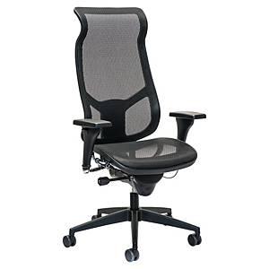 Prosedia Airspace 3642 bureaustoel, hoge rugleuning met neksteun, mesh, zwart