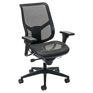 Prosedia Airspace 3632 bureaustoel, middelhoge rugleuning, mesh, zwart