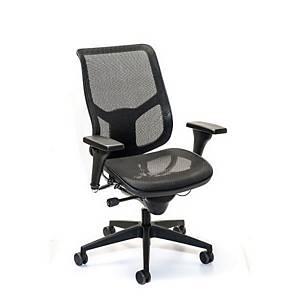 Interstuhl Airspace 3632 Management Medium High Back Mesh Chair Black