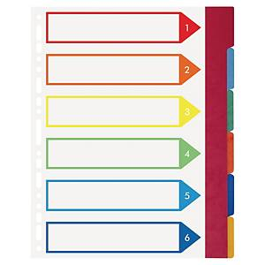 Exacompta extra wide neutral dividers 6-tabs cardboard 23-holes