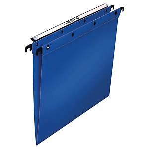 Cartelle sospese cassetto Elba PPL fondo U-3 cm interasse 390 mm blu - conf. 10