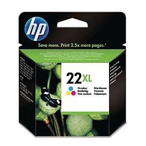 HP 22XL High Yield Tri-Colour Original Ink Cartridge (C9352CE)