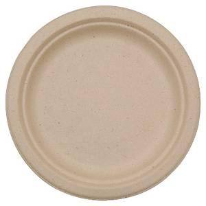 Duni composteerbaar bord van suikerriet, 22 cm diameter, pak van 50 borden