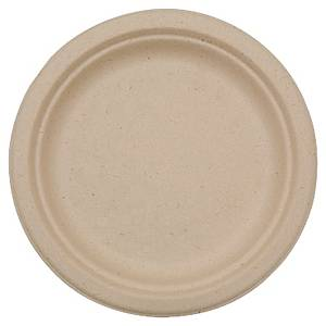 Pack de 50 platos Duni - bagazo biodegradable - Ø 220 mm - marrón
