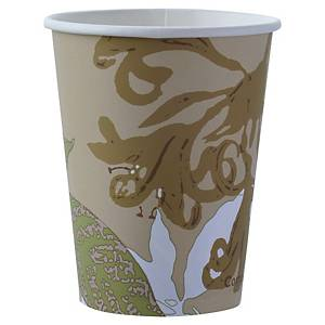 Gobelet en carton et PLA Duni ecoecho - 12 cl - simple paroi - paquet de 50