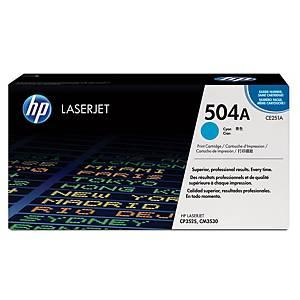 HP 504A CE251A laservärikasetti syaani