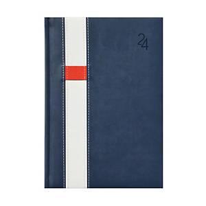 Vario napi határidőnapló A5 - kék/fehér, 15 x 21 cm, 352 oldal