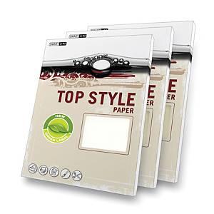 Top Style Papier, Linen, A4, 220 g/m², weiss, 20 Blatt