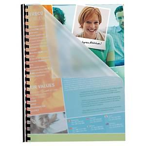 Pack de 100 cubiertas de encuadernación Pavo - A4 - PP - transparentes