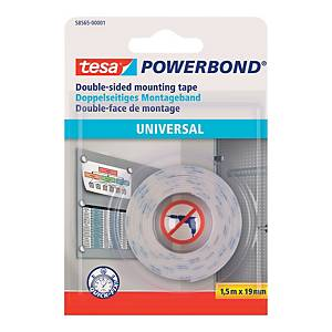 Monteringstape Tesa Powerbond, 19 mm x 1,5 m