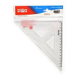 Koh-i-noor műanyag háromszögvonalzó, 16 cm