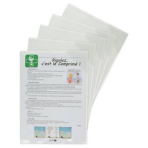 Pochette d affichage magnétique Tarifold Kang, transparente, A4, le paquet de 5