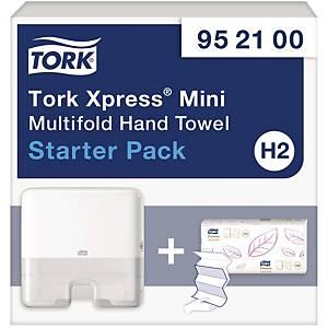Tork Xpress distributeur essuie-mains H2-mini pr Multifold blanc - kit de depart