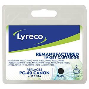 LYRECO kompatibilná atramentová kazeta CANON PG-40 (0615B001) čierna