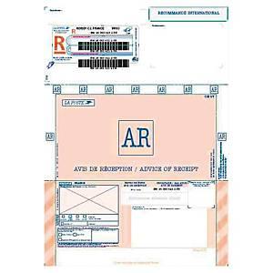 Imprimé recommandé international - avec AR - boîte de 250