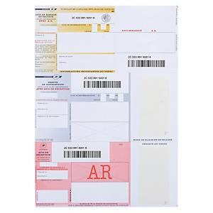 Imprimé recommandé national - avec AR - avec code barres - boîte de 1000