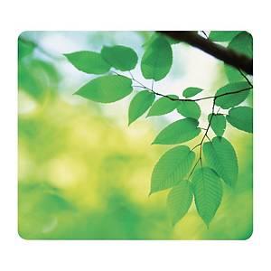 Tapis souris Fellowes, comp. à 95% de pneus en caout. recy., motif feuilles