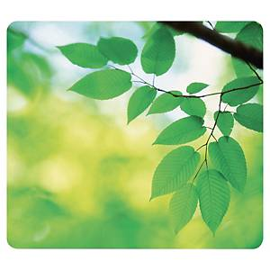 Fellowes 5903801 Recycled Optical Mousepad - Leaves