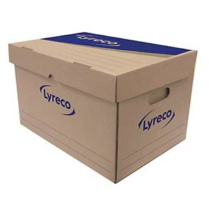 LYRECO Paper Storage Box 40X31X32cm - Pack of 2