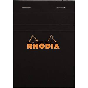 Notesblok Rhodia, linjeret, A6, 80 ark 80 g, sort
