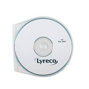 CD/DVD slim cases with perforation transparant - pack of 10