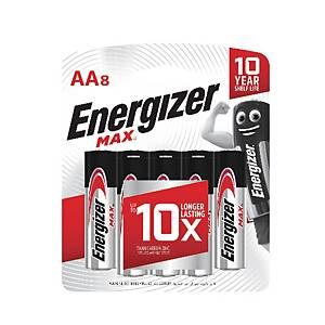 Energizer Max E91AA Alkaline Battery - Pack of 8