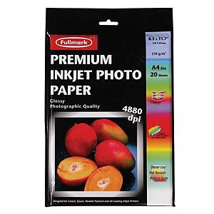 Fullmark Premium Inkjet Photo A4 Paper 210gsm - Pack of 20