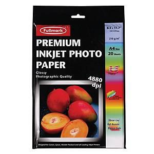 Fullmark Premium Inkjet Photo A4 Paper 210gsm - Pack of 20