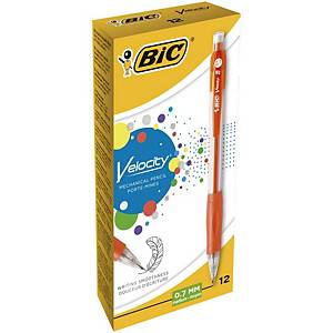 Bic Velocity Mechanical Pencil With Grip 0.7mm Assorted - Box of 12