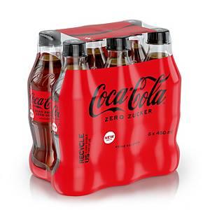 Coca Cola Zero 45 cl, 6 bottiglie