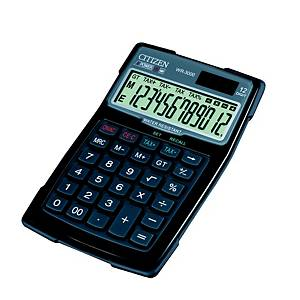 Kalkulator Citizen WR-3000, vanntæt, sort