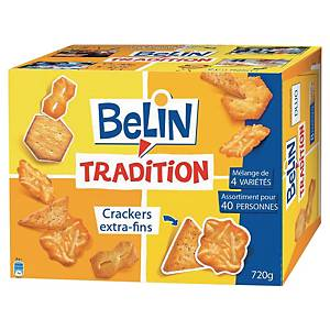 Assortiment de biscuits apéritifs crackers Belin Tradition - boîte de 720 g
