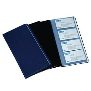 Bantex PVC Business Card Album - 240 Cards Capacity Black