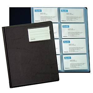 Bantex PVC Business Card Album - 320 Cards Capacity Black