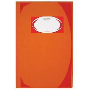 ELEPHANT HC-106 HARD COVER NOTEBOOK 210MM X 320MM 70G 100 SHEETS ORANGE