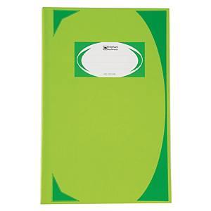 ตราช้าง สมุดบันทึกมุมมัน HC-107 70 แกรม 100 แผ่น สีเขียวอ่อน