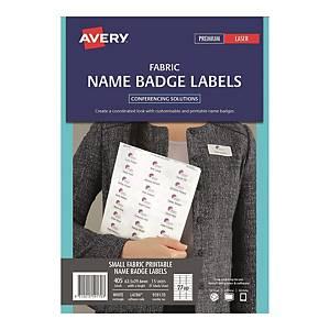 Avery 艾利 L4784 布料名牌標籤(白色) 63.5 x 29.6毫米 每包405個標籤
