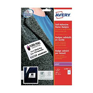 Avery L4784 Fabric Label 63.5mm x 29.6mm - Pack of 405 Labels