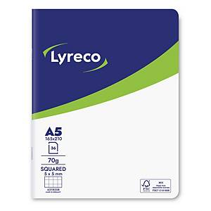 Lyreco FSC notebook 210x165 mm squared 5x5 mm 36 pages