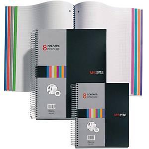 Cuaderno de espiral Miquelrius Notebook 8 - A5 - 200 hojas - cuadriculado
